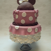 Little Isobel Is Two! My little girl is two years old. Yesterday we celebrated with a Minnie Mouse cake, she loves Minnie! The first fondant cake i made is last...