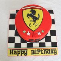 Ferrari Cake My birthday cake!! Made by my partners in crime - my awesome daughter and my hubby!