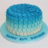 Gradient Colour Cake I always wanted to try this! My client wanted a blue cake, so this is what she got! Thanks to all the CCers for the inspiration and tips!