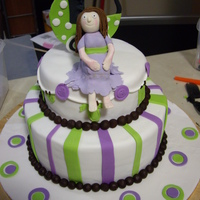 Baby Shower Cake Made this baby shower cake for my sister in law. Gender is unknown but I know that she loves Purple and Lime green. Was choc mudcake with...