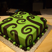 Birthday Cake Made this cake by accident I was going to make it a zebra print cake but made it into swirls instead because I though it looked good on the...
