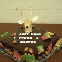 3D Grooms Cake With Deer Head