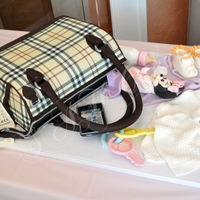 Burberry Diaper Bag Cake Baby shower cake which matched the push present hubby gave to wife. Thanks to bethygee, karen1214, Kitagrl, cat633, and jenn21 for your...