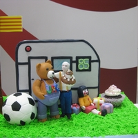 Toys Jac Gumpaste 3D. Caravaning and old man with toys.