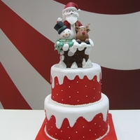 Merry Christmas From Caramelusa, Barcelona dummy cake, fondant and sugarpaste.