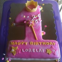 First Birthday Princess Cake yellow cake with vanilla buttercream, mmf and mmf accessories