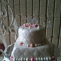 30Th Birthday Cake white cake with vanilla buttercream covered in mmf