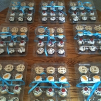 Thank You Cupcakes  Vanilla and chocolate cupcakes with various toppings made for my son's high school teachers, counselor, and principal to thank them...