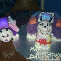 Daughter's 5Th Birthday Cake. Dream lite cake with Lights on