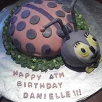 Daughter's 4Th Birthday Cake   lady bug - girl style..
