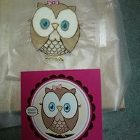 Whooo's One? Topper for smash cake. Owl made to look like the invitations