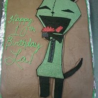 Gir Request for a GIR cake, had never heard of GIR, lol. Frozen Buttercream transfer