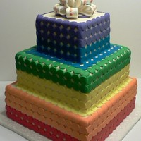 Taste The Rainbow Wedding Cake Taste the rainbow wedding cake.