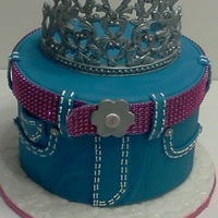 Denim Birthday With Handmade Tiara