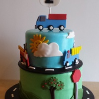 Truck Themed Birthday Cake Truck themed birthday cake