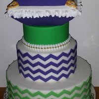 Purple And Green Wedding Cake Purple and green wedding cake.