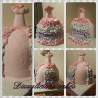 My First Dress Cake my first dress cake