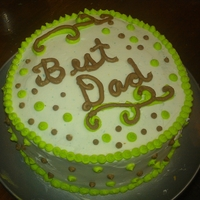 Fathersday sourcream cake with almond frosting all decorated in buttercream