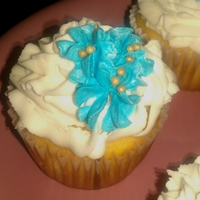 Souvenir Cupcakes Wedding Turquoise, Golden Ivory