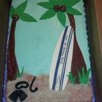 Surfing/snorkeling 40Th Birthday Cake