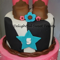 Cowgirl Themed Birthday Cake!