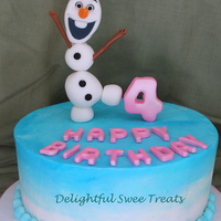 Frozen Themed Cake   My version of Olaf.