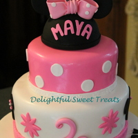 Baby Minnie Mouse Birthday Cake   Baby Minnie Mouse Birthday Cake