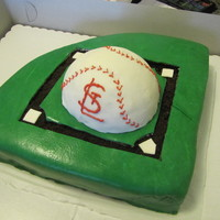 Baseball Field St. Louis Cardinals baseball cake