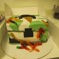 Tackle Box Camo tackle box for the grooms cake!