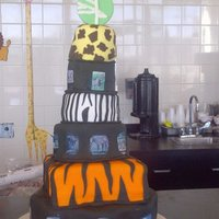 Zoo Cake  I donated this cake along with 250 cupcakes, 300 cake balls & 300 tiger/zebra tails & giraffe necks the photos were all edible...