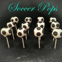Soccer Ball Cakepops!!!   I am so happy with the way these cakepops turned out. they were for a soccer game!