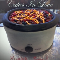 Chili Crockpot Cook Off Cake!  this cake was ordered to be the dessert for a chili cook off competition at a local engineer firm. we delivered what they thought was a...