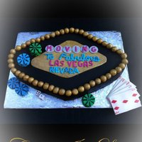 Moving To Fabulous Las Vegas Cake  i instantly thought of the Welcome to fabulous Las Vegas sign when i heard my clients were moving to vegas. So i decided to design a cake...