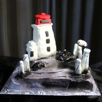 Peggy's Cove Lighthouse A great cake for visiting guests...coming to Nova Scotia for a trip from the US. It was my first lighthouse request...loved working in...