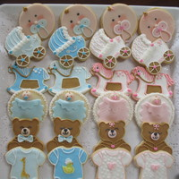 Baby Boy & Baby Girl Shower Cookies