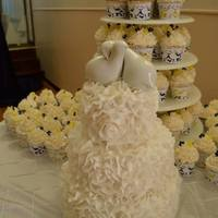 Niece's Wedding Cake And Cupcakes. *