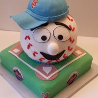 Mr Mets Baseball Grooms Cake