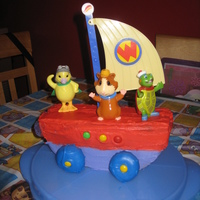 Wonder Pets Cake The Fly Boat cake that I made for my daughter's 2nd birthday.