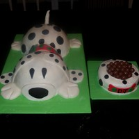 Puppy Dog Birthday Cake PUPPY DOG CAKE WITH DOGGIE BOWL SMASH CAKE