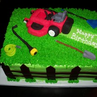 Lawnmower Birthday Cake