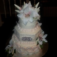 Rossette Wedding Cake