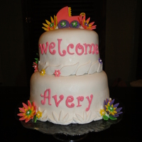 Avery's Shower Cake Baby shower cake I made for my second grand daughter - Avery