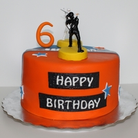 "G.i. Joe 8"" Vanilla Cake with chocolate Ganache"