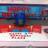 Optimus Prime For My Boys 5Th Birthday   Optimus Prime for my boys 5th birthday :-)