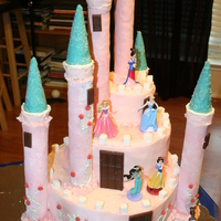Princess Castle Cake Daughter's 4th birthday cake. Got a lot of ideas online and kind of made my own version!