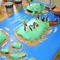 Pirateisland Cake My son's 7th birthday. We had a water/Pirate themed birthday.