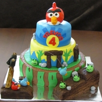 Angry Birds Cake Thank you to Lingin for the inspiration!