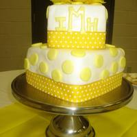 Yellow Polka Dot Cake