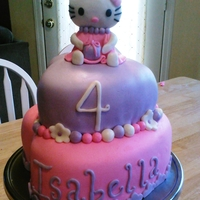Hello Kitty Cake kitty is made with MMF/gumpaste combo, all other decoration is fondant