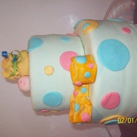 Baby Shower Cake   fondant covered baby cake